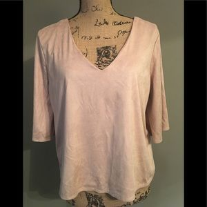 Forever 21 faux suede top